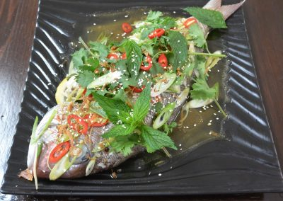 CWS-0034-4 Steamed Snapper With Asian Flavours