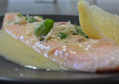 CWS-0056-2 Rainbow Trout with Basil Beurre Blanc