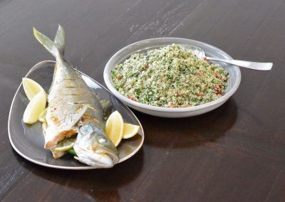 CWS-0106-2 Steamed Kingfish, Chermoula and Tabbouleh