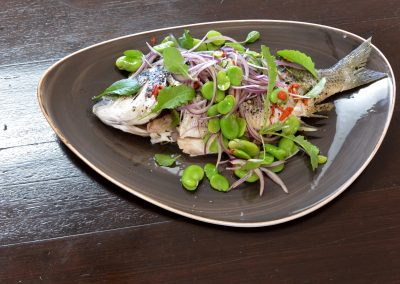 CWS-0119-2 Steamed Bream and Broad Bean Salad