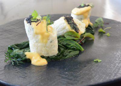 CWS-0134-3 Sea Perch, Caviar and Hollandaise Sauce