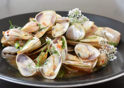 CWS-0138-2 Steamed Clams, Chilli Jam and Coriander