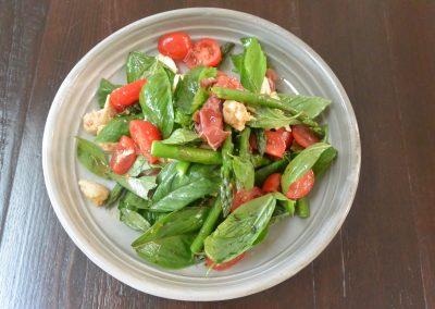 CWS-0139-2 Asparagus, Basil, Prosciutto and Tomato Salad