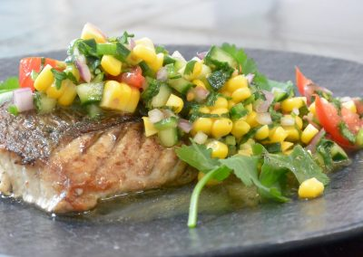 CWS-0140-1 Snapper with Steamed Corn and Jalapeno Salsa