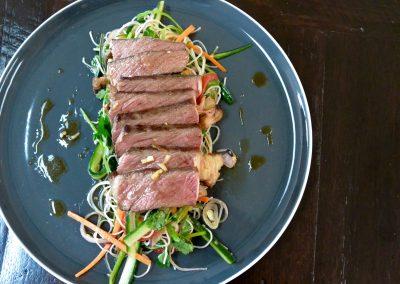 CWS-0142-2 Beef and Rice Noodle Salad, Pickled Ginger Juice Dressing