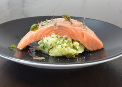 CWS-0150-3 Steamed Ocean Trout and EVOO Crushed Potatoes