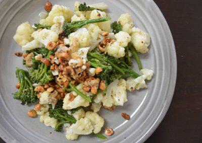 CWS-0161-1 Cauliflower, Broccoli, Hazelnuts, Confit Garlic and Onion Oil