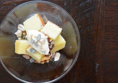 CWS-0174-2 Olive Oil Sponge, Spiced Nuts, Salted Caramel