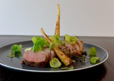 CWS-0205-1 Lamb loin mini roast, parsnip and brussel sprouts