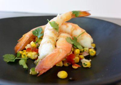 CWS-0227-1 Steamed king prawns and zesty corn salsa