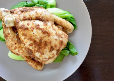 CWS-0234-3 XO Steamed Free Range Chicken and Bok Choy