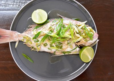CWS-0256-4 Steamed Snapper with Ginger and Spring Onion