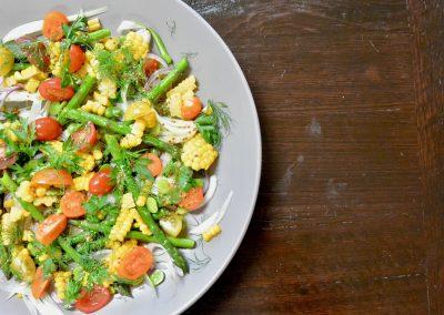 CWS-0261-1 Steamed Spring Vegetable Salad
