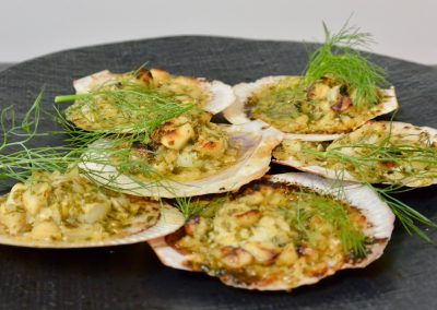 CWS-0266-2 Combi Baked Scallops with Macadamia, Herb and Lime Butter