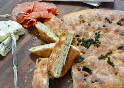 CWS-0288-2 Stone Baked Sage, Caper and Brown Butter Foccacia